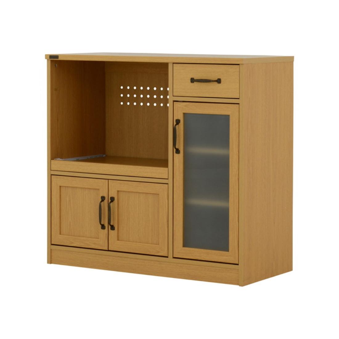 送料無料 オシャレ 家具 キッチン 収納 ARDI(アルディ)レンジボード(ロータイプ 90cm幅) オシャレ