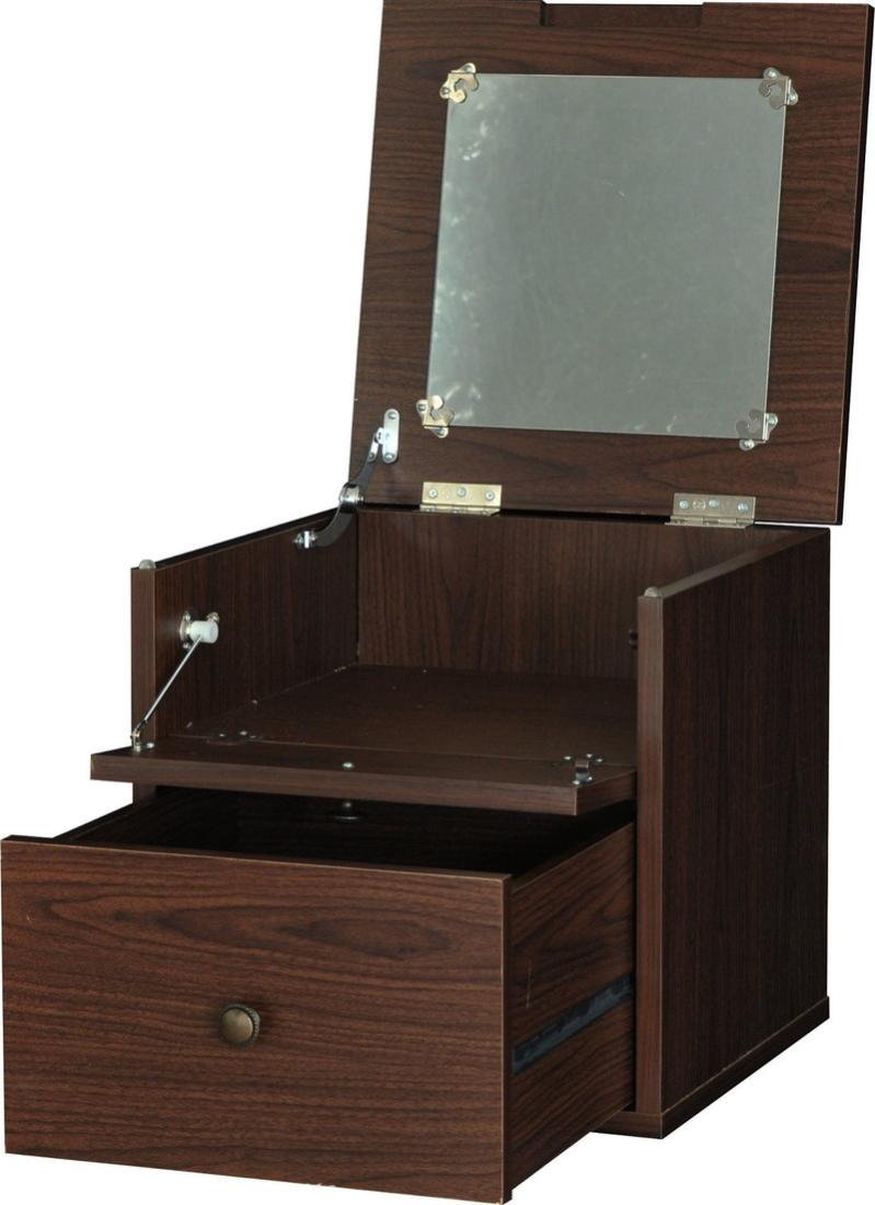 送料無料 オシャレ 家具 化粧台 鏡台 hako(ハコ)ドレッサー キューブボックス(39cm幅) オシャレ