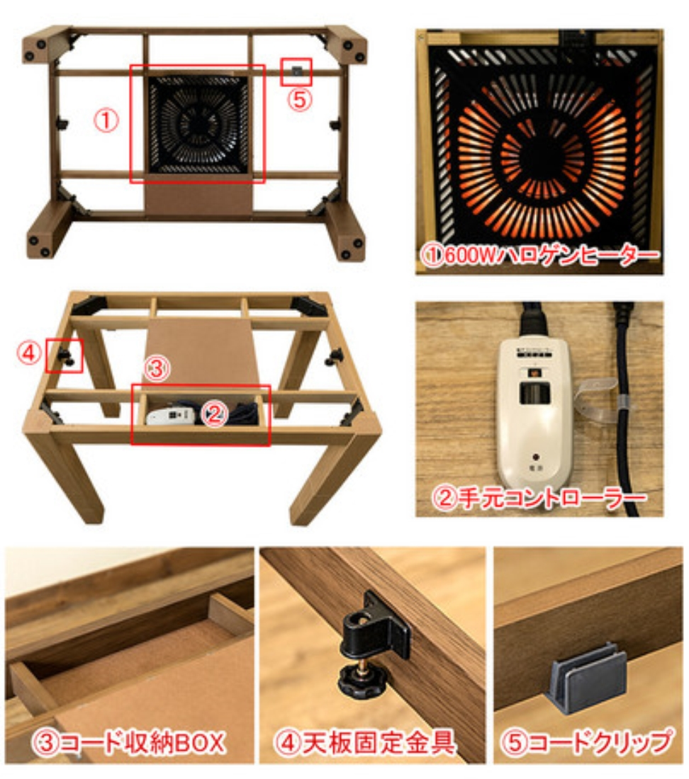 【送料無料】家具 こたつ 炬燵 テーブル 机 3段階継脚ダイニングコタツ80x80【離島配送不可】