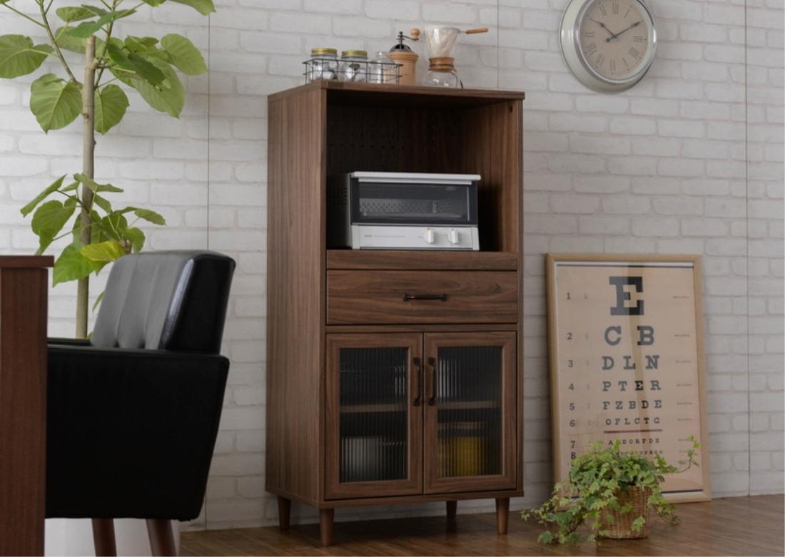 【送料無料】おしゃれ家具 キッチン収納 POWRY(ポーリー) レンジ台(60cm幅) オシャレ