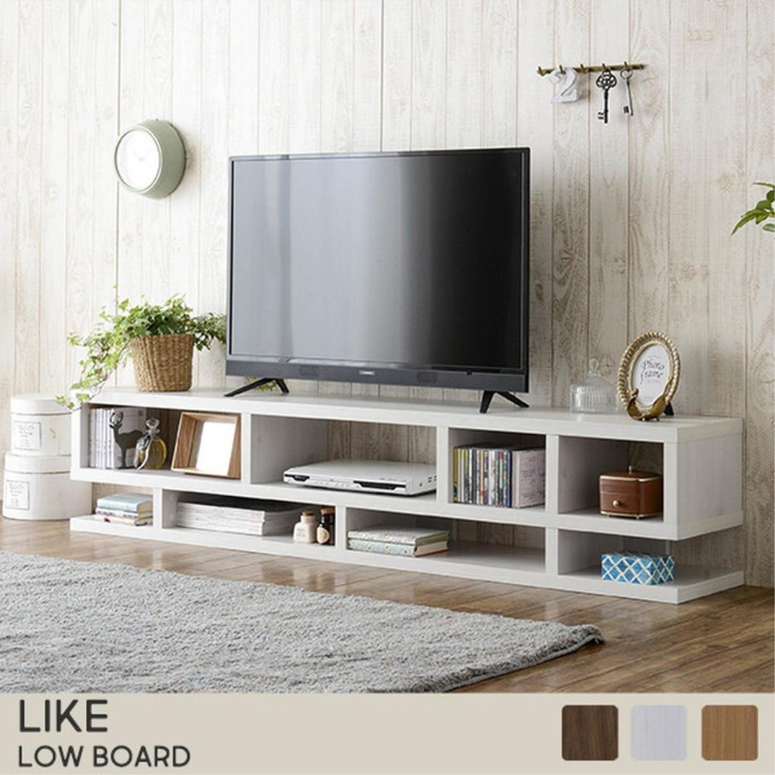 テレビ台 テレビ ボード TVボード Like(ライク) ローボード ローシェルフ(180cm幅/36cm高)