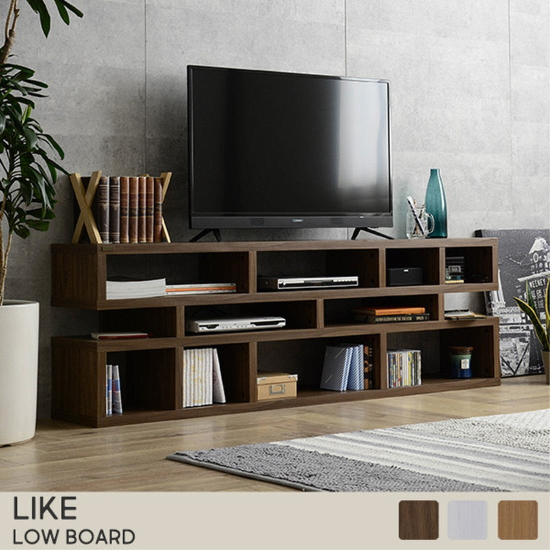 【送料無料】家具 テレビ台 テレビ ボード TVボード Like(ライク) ローボード ローシェルフ(180cm幅/56cm高) オシャレ