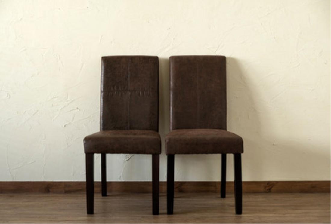 「送料無料」インテリア家具 チェアー 椅子 ヴィンテージ風ダイニングチェア2脚入 ブラウン