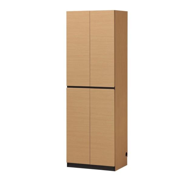 リビング 収納 棚 木製ラック 本棚 大容量 な 収納力 の 壁面 収納 木製 ウッドシェルフ PORTALE キャビネット 幅60 ナチュラル