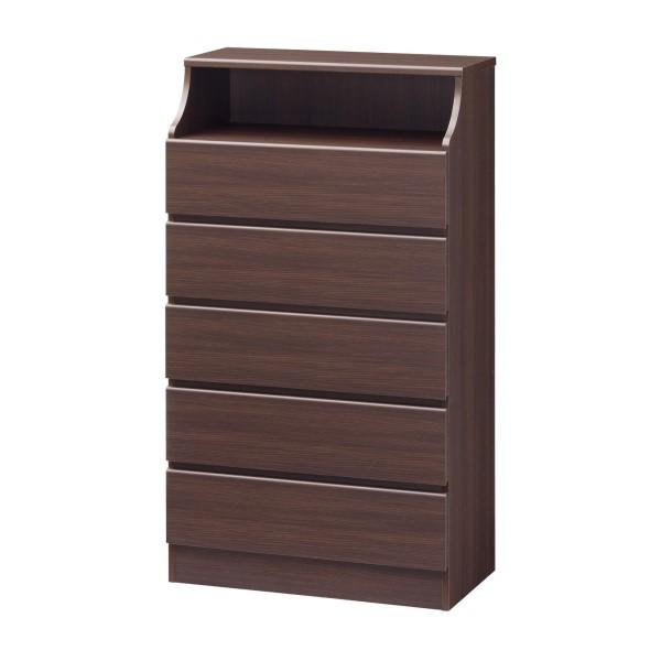 棚 タンス 収納 リビング家具 寝室 での 衣類収納 や リビング に 組み立て 簡単 CHESCA チェスト 幅750mm ダーク