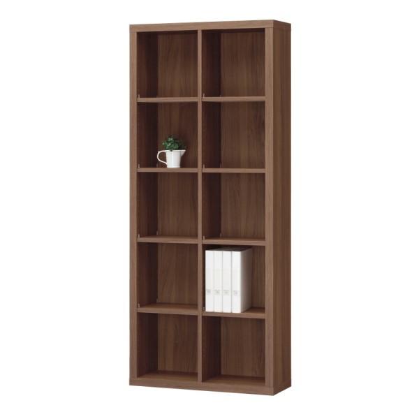 本 棚 雑誌ラック リビングラック 収納家具 上質 インテリアラック 素材 の 温もり を 感じられる お部屋 SEPAREA オープンラック 幅787mm ダーク