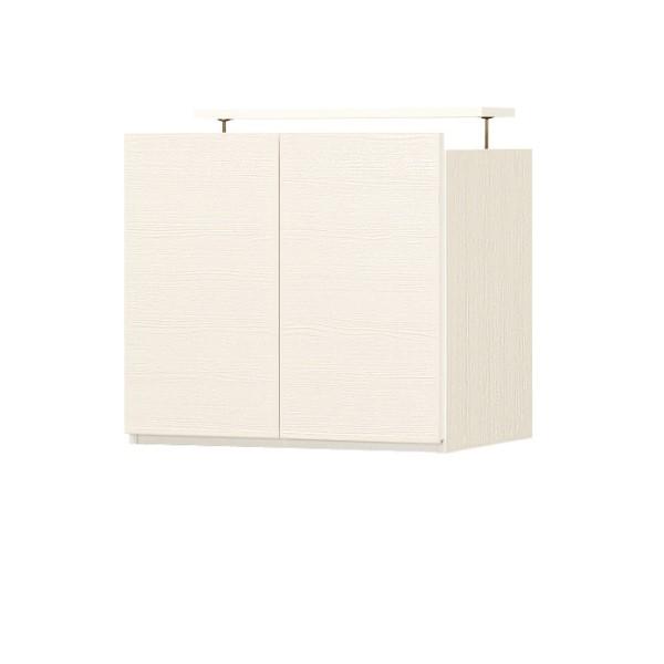 リビング 台 収納キャビネット サイドボード スッキリ 配線 壁 に ピッタリ 収まる PORTALE キャビネット(上置き) 幅600mm ホワイト