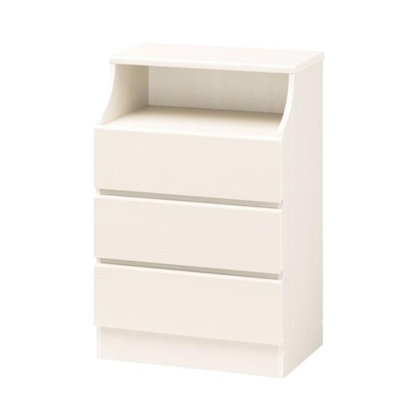 収納家具 インテリア家具 キャビネット オープン 部分 は 背板 に 配線穴 がついてます 清潔 で 明るい ホワイトカラー CHESCA チェスト 高さ90.9cm ホワイト
