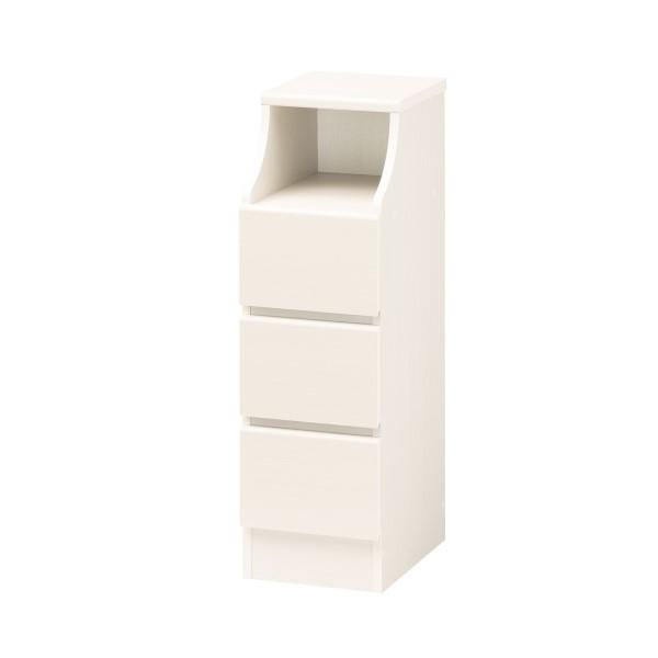 収納家具 インテリア家具 キャビネット 小物が多い キッチン や リビング にも 清潔 で 明るい ホワイトカラー CHESCA チェスト 幅28cm ホワイト