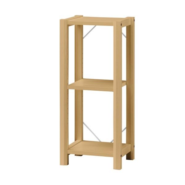 リビング 収納 棚 木製ラック 本棚 落ち着いた 木目 お洒落 な リビング家具 Kinarie オープンラック 幅38cm ナチュラル