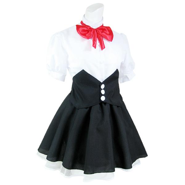 ハロウィン 仮装 ハロイン halloween costume ハローウィンコスプレ 衣装 メイド 制服 セット カチューシャ、リボン、シャツ、スカート Mサイズ!cos コスチューム