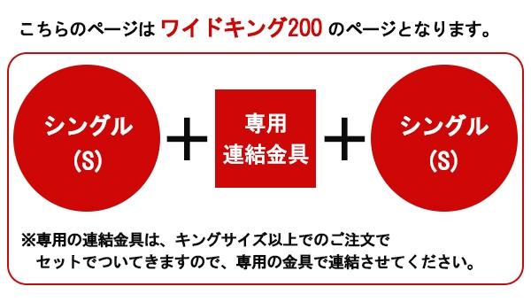 パネル型ラインデザインベッドWK200(S+S)ボンネルコイルスプリングマットレス付