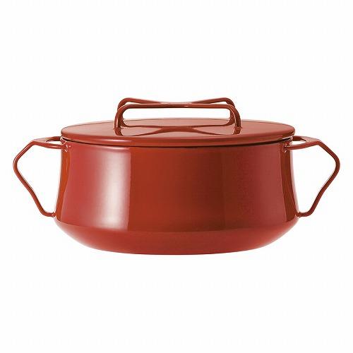 ダンスク コベンスタイル2 両手鍋18cm834300/833297クロスの形をした持ち手のフタは重ねて収納でき、鍋敷きにもなる優れものです。