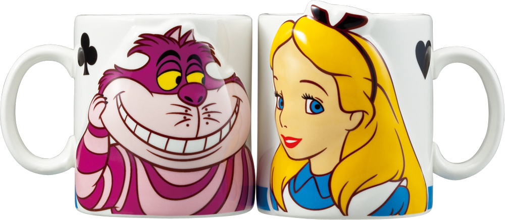 【DISNEY】ディズニー アリス&チェシャ猫 ペアマグ