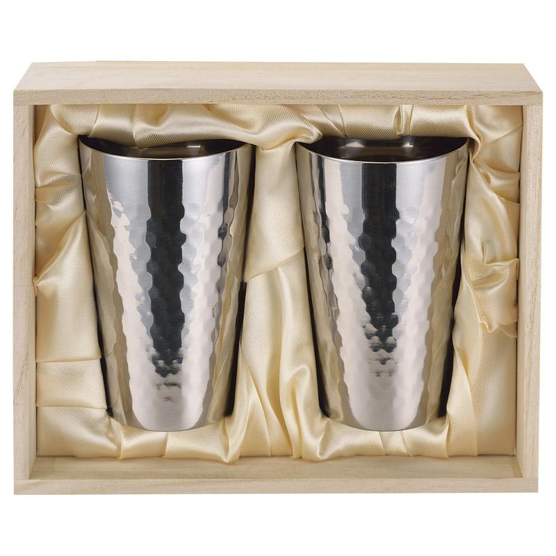 【楽ギフ 包装】食楽工房 チタン二重カップ2個セットチタンは錆びない金属なので、飲み物に金属が溶け込むこともありませんTW-2