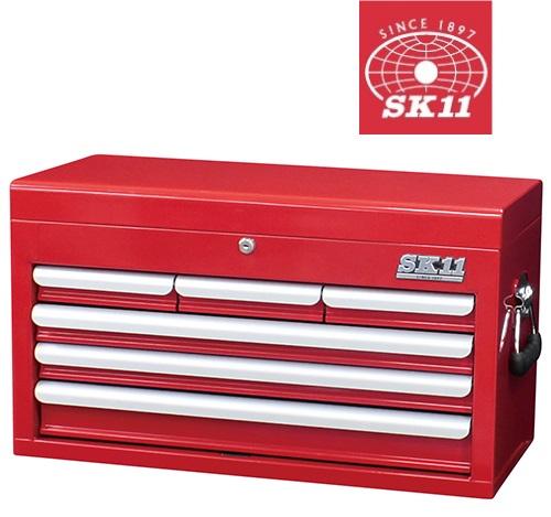【送料無料】SK11 チェスト 4段6引出し SRC-4060RE [工具箱 ツールボックス キャビネットチェスト]