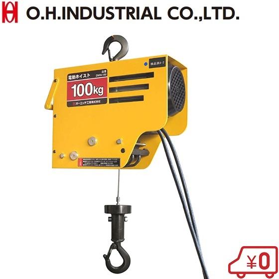 OH 電動チェーンホイスト 100kg DWH-100 100V [チェーンブロック 小型 荷揚げ ウインチ 積荷道具]
