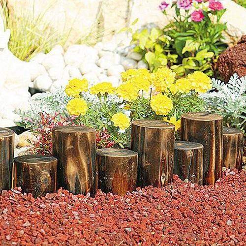タカショー 乱杭 YD-R8S 18cm×65cm×10個セット 花壇フェンス 仕切り 柵 土留め プランター 囲い ブロック