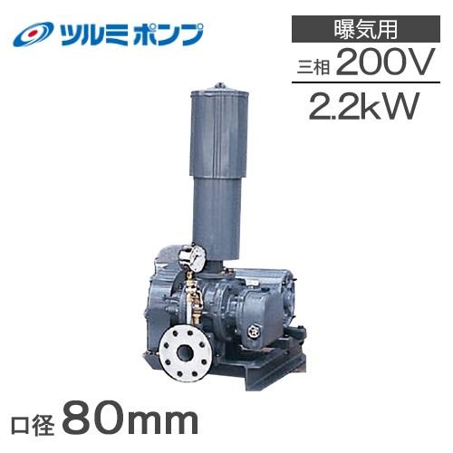 ツルミポンプ ルーツブロワー RSR-80 2.2kw 三相200V[浄化槽 ブロアー エアーポンプ エアポンプ]