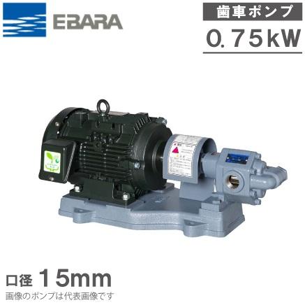 エバラポンプ ギヤポンプ GPF型 15GPF5.75B/15GPF6.75B 200V モーター付 給油ポンプ 油圧 ギヤーポンプ