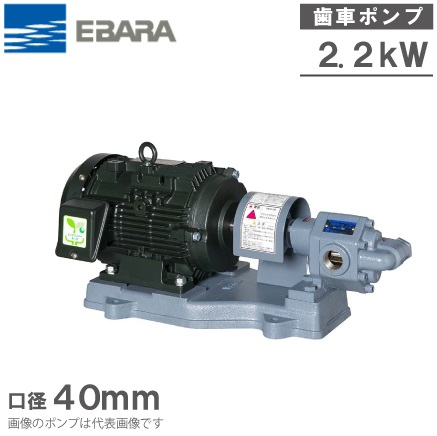 エバラポンプ ギヤポンプ GPF型 40GPF52.2B 50HZ/200V モーター付 給油ポンプ 油圧 ギヤーポンプ