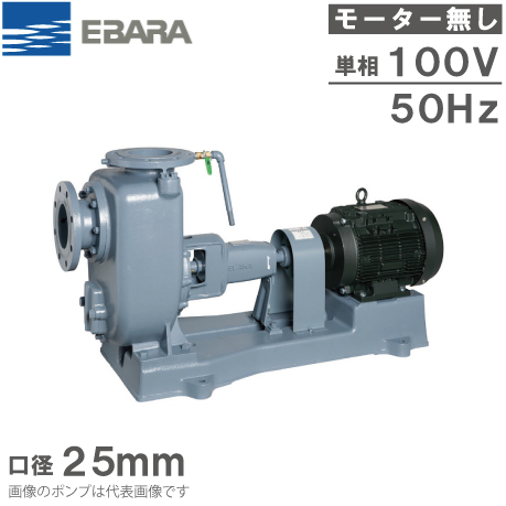 エバラポンプ 給水ポンプ SQ型 25SQF5.2S 50HZ/100V モーター無し 循環ポンプ 揚水