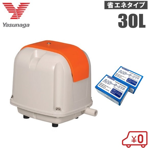 安永 浄化槽ブロアー 30L + 浄化槽塩素剤 2箱セット AP-30P エアーポンプ 浄化槽ポンプ ブロワー バイオシーダ