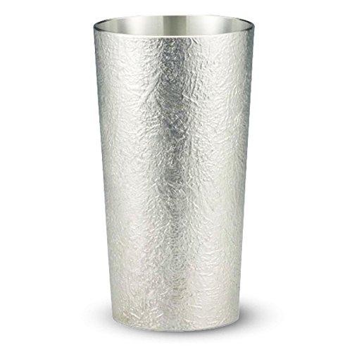 【送料無料】大阪錫器 錫タンブラー 錫酒器 〔ビールグラス 錫製品 父の日 プレゼント ギフト〕 かたらい(大) 16-8-1