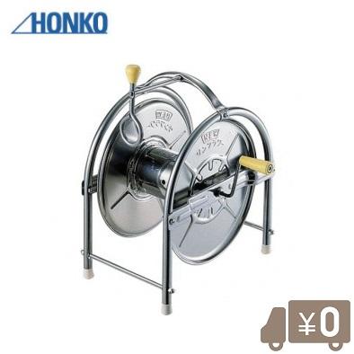 ホンコー ステンレス製 散水ホースリール 20m~25m巻対応 おしゃれ
