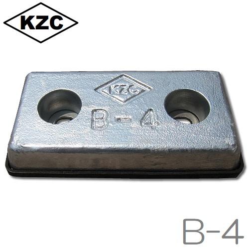 【送料無料】KZC 亜鉛板 B-5 [40×100×200mm] 6枚セット 防蝕亜鉛外板用/亜鉛合金陽極 [船舶用品 クルーザー 船具]
