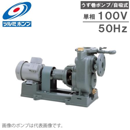 ツルミポンプ 自吸式 うず巻ポンプ TCP2-40LE0.4S 50HZ/100V モーター付 給水ポンプ 循環ポンプ 排水ポンプ