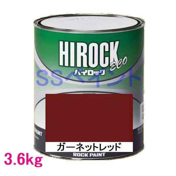 自動車塗料 ロックペイント 073-5047 ハイロック ECO ガーネットレッド 主剤 3.6kg