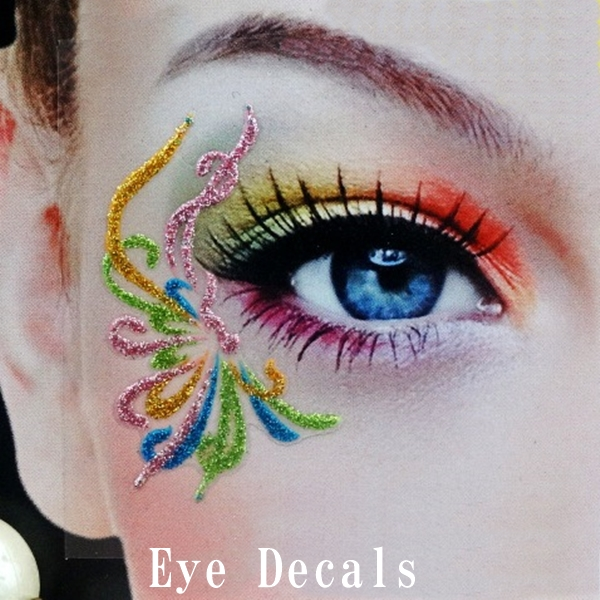 ハロウィンタトゥーシールアイメイクシール装飾eye decals,タトゥーシール,アイメイクシール,小物パーティータトゥーシール.ハロウィンタトゥーシールフェイスシール