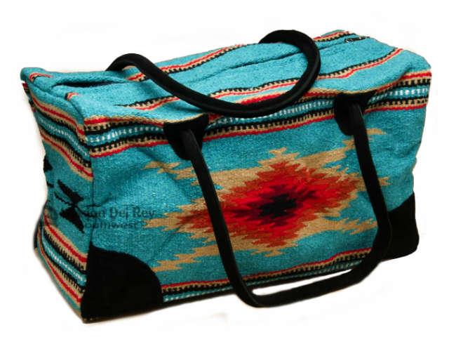 Native Southwestern Weekender Rug Bag Teal(大) サウスウエスタン ウィークエンダー ラグ バッグ タン・レディース・アメリカ・ウエスタンバッグ・西部スタイル・ネイティブ・バッグ・ボストンバッグ・ティ-ル