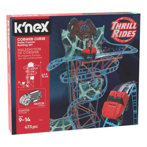 組み立てて遊ぶ くもの巣の呪いのローラーコースター K'NEX Thrill Rides Cobweb Curse Roller Coaster Seasonal Wrap入荷 直輸入品激安 Building Set ケネックス スリル ライド カブウェブ セット ローラーコースター 3D 立体 組立 ビルディング くもの巣 TOY おもちゃ 473ピース ミニカー 走る カーズ アメリカ