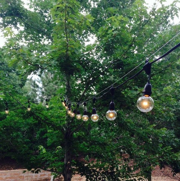 Outdoor lighting patio string lights black outdoor lighting patio string lights black mozeypictures Image collections