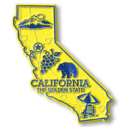 カリフォルニアのマグネット! California Map MAGNET カリフォルニアのマグネット!!クラシックマグネット・アメリカ・マップ