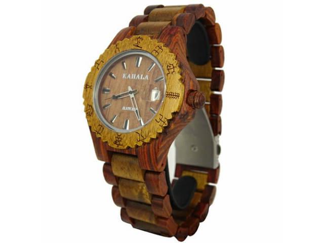 **KAHALA WOODEN WATCH #6 レディースモデル ハワイアン・コアウッド・木製・アクセサリー・腕時計・ハワイ・Hawaii・hawaii・ロコ・ウッド