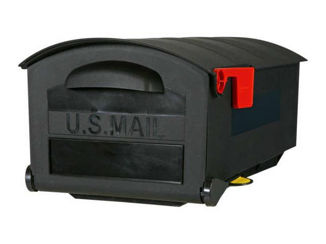 Gibraltar Black Large Plastic Mailbox/POST アメリカ・USA・ポスト・US郵便受け・メールボックス・アメリカン・