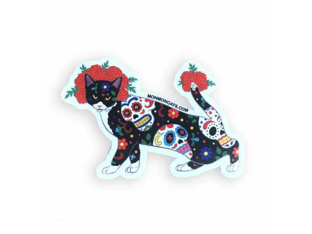 テレビで話題 モンモンキャットのステッカー MONMON CATS Dia De Los Muertos Cat Stickers モンモンキャット ステッカー 刺青 シール 猫 tattoo カリフォルニア アメリカ ねこ オンラインショップ イレズミ タトゥー ネコ