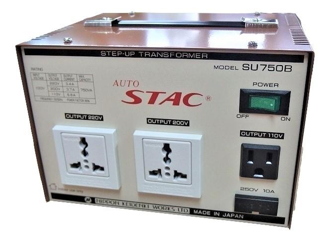 2020モデル 送料無料 ステップアップトランス 送料無料限定セール中 変圧器 SU750B 100V⇒110V 200V 220V 最大容量:750VA AUTO 海外製品 アップトランス STAC 国内 家電 日本製 昇圧トランス トランス
