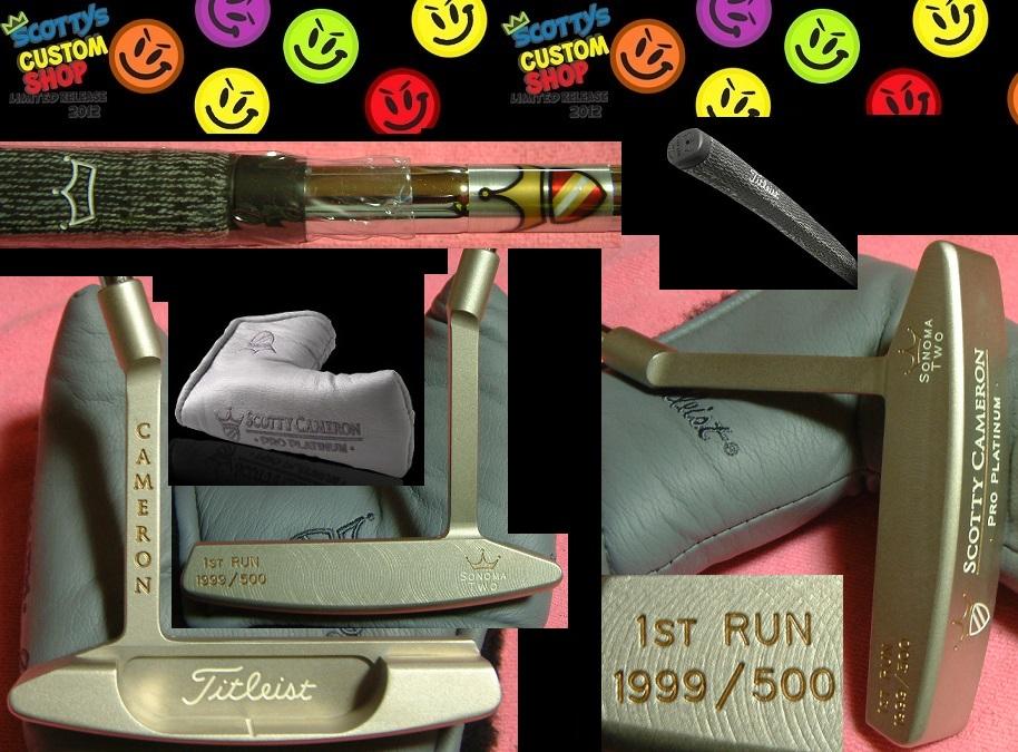 ★送料込スコッティ・キャメロン★1999 1ST RUN 500Pro Platinum™ SONOMA TWOPro Platinum finishソノマ 2   500本限定Long Slant Neckデッドストック 未使用保管品