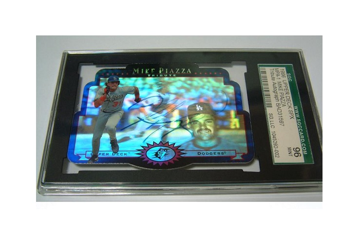 1996 Upper Deck SPX MPA-1 MIKE PIAZZA Tribute Auto GraphSGC96 MINT 証明付