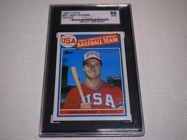 1985 TOPPS #401 Mark McGwire 証明付 本日限定 cardSGC98 Rookie GEM 特売