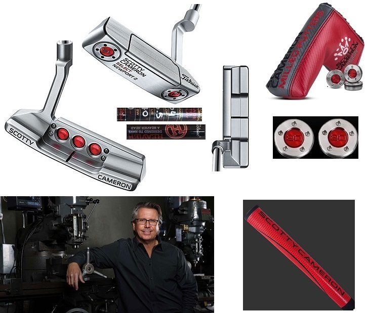 ★送料込NEW! 特注ヘビーバージョン★シルバーミスト2016 スコッティキャメロンStudio Select Newport 2(ニューポート 2)Red Matador(赤)Mid-Size グリップ装着34inch /360G 20gx2
