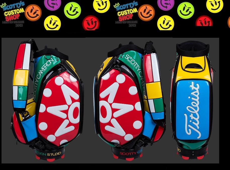 2017年 SCOTTY CAMERON LTD2017 Window Pane Staff Bag Archival Golf Bagsキャメロン 限定キャディバッグ7 Point Crown