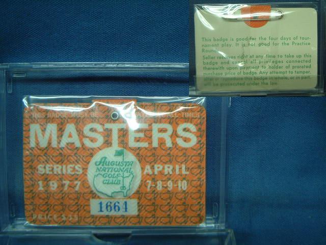 美品 人気の製品 1977 MASTERS TOURNAMENT マスターズトーナメント 入場バッジ