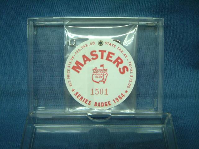 1964 MASTERS TOURNAMENT (マスターズトーナメント) 入場バッジ