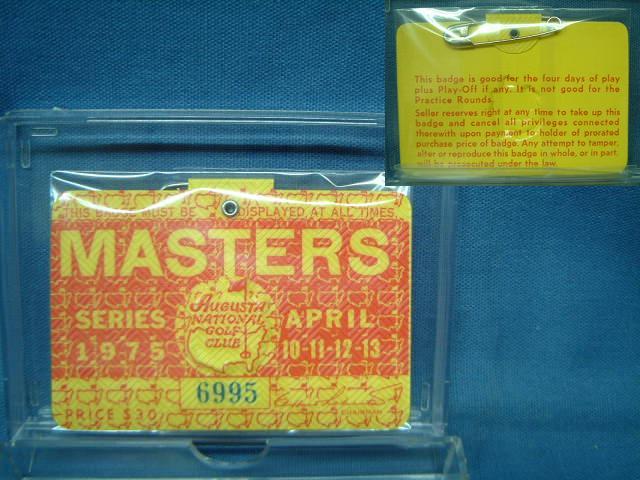 2020 1975 MASTERS TOURNAMENT マスターズトーナメント マーケティング 入場バッジ
