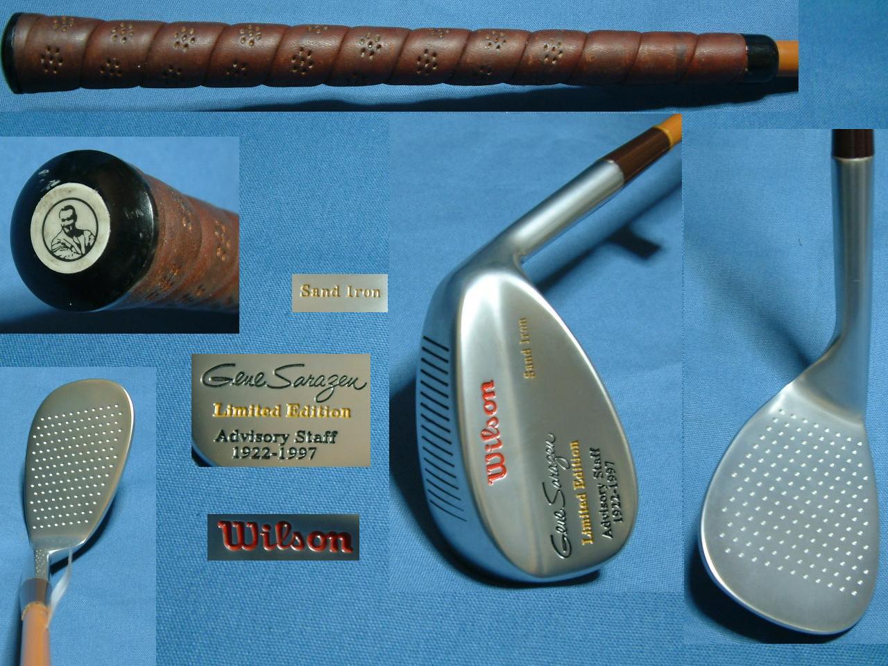 ブランド品 Gene Sarazen Sand Iron 1922-1997 Wilson Limited サンドアイアン サラゼン 激安通販販売 Edition デットストック在庫分限り ジーン 限定